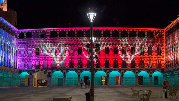 State-of-the-art dynamic lighting makes building at Badajoz, Spain to stand out