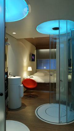 Citizen hotel room illuminated by Philips lighting