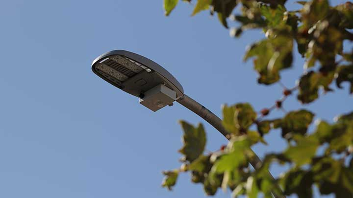 Collect data from sensors on LED street lighting poles